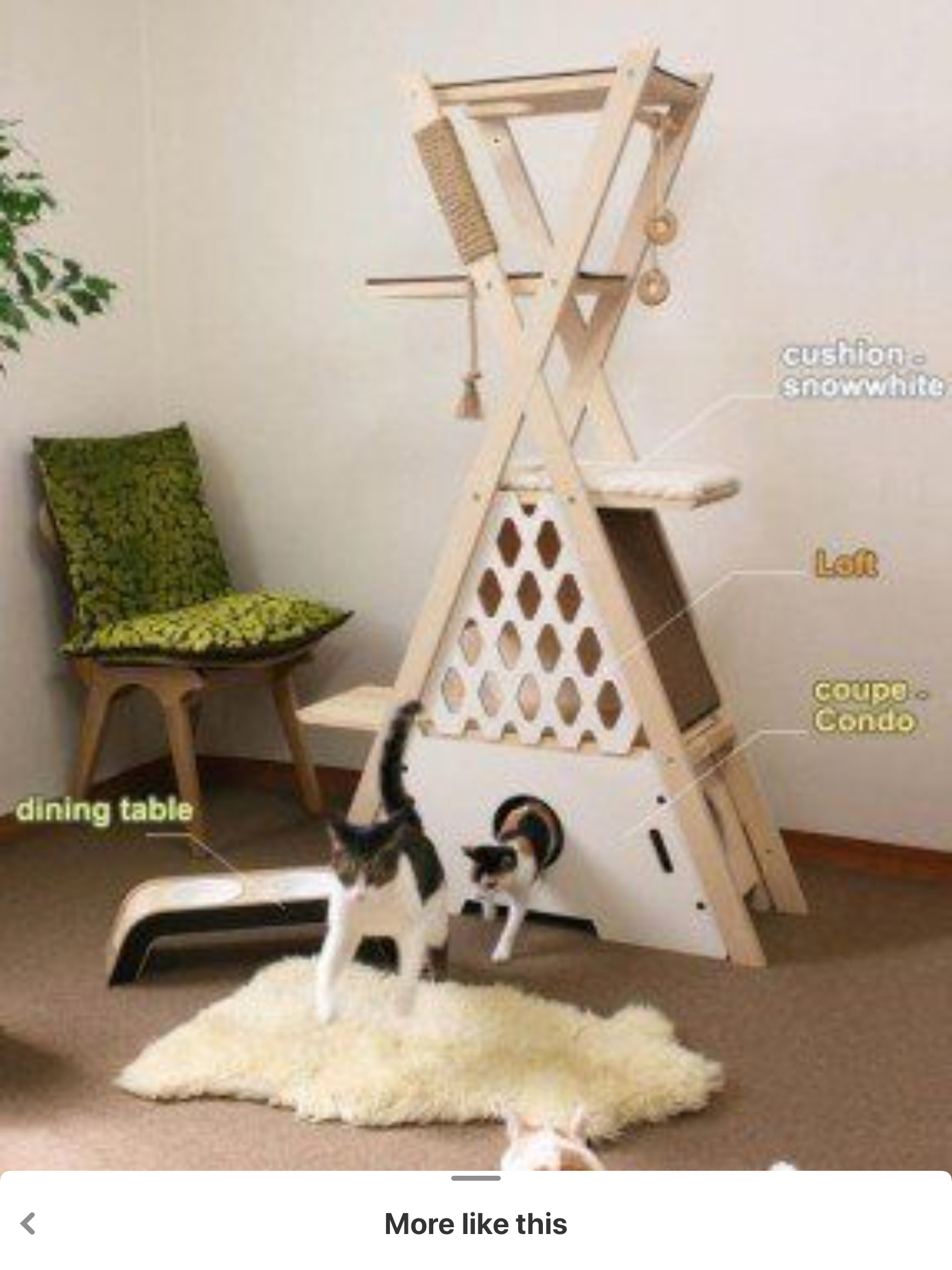 The Attractive Design Of This Cat Tree Is An Excellent Way To Provide A  Great Place To Play With Pets. Beautiful Construction And Effective  Execution Make ...