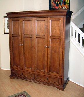 Tv Armoire Pocket Doors