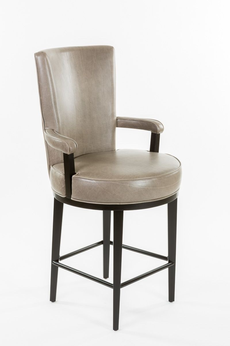 Beau Upholstered Bar Stools With Backs And Arms