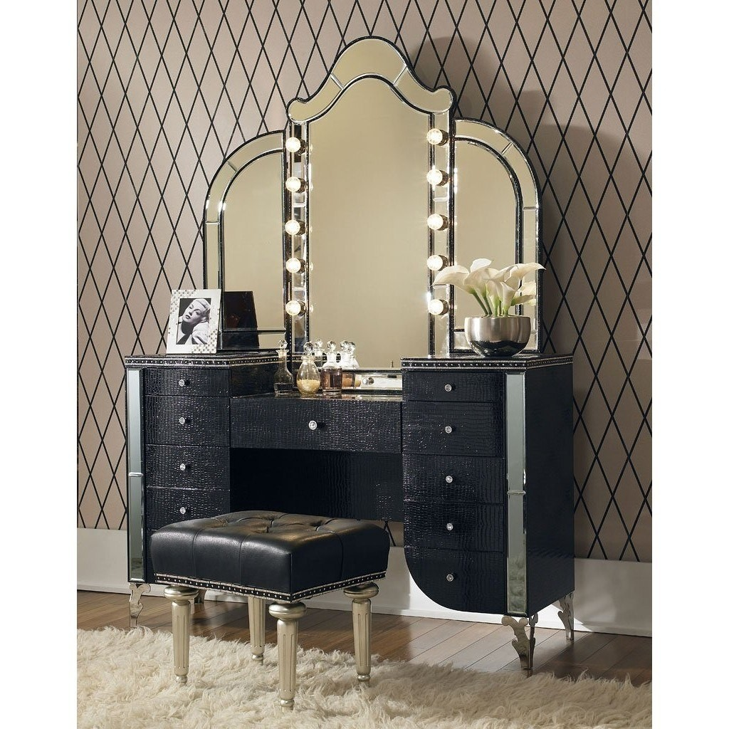 Vanity table with mirror and lights & Vanity Dressing Table With Mirror And Lights - Foter