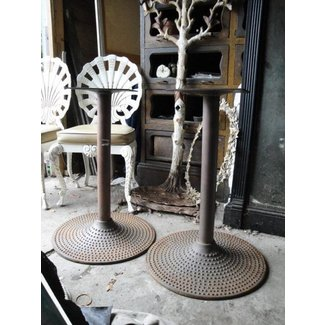 Vintage industrial cast iron pair of