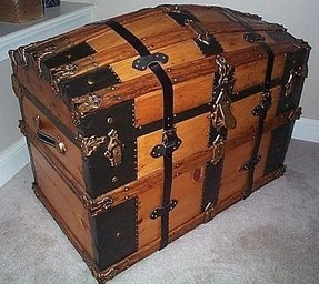 Vintage storage trunks and chests
