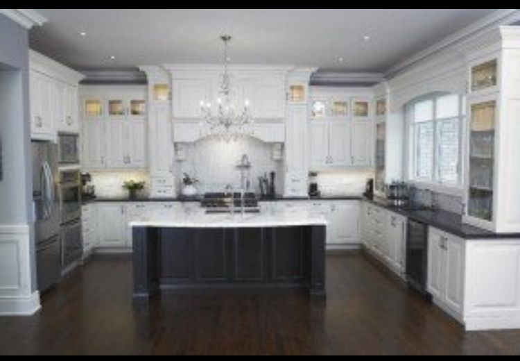 Attrayant White Kitchen Island With Granite Top
