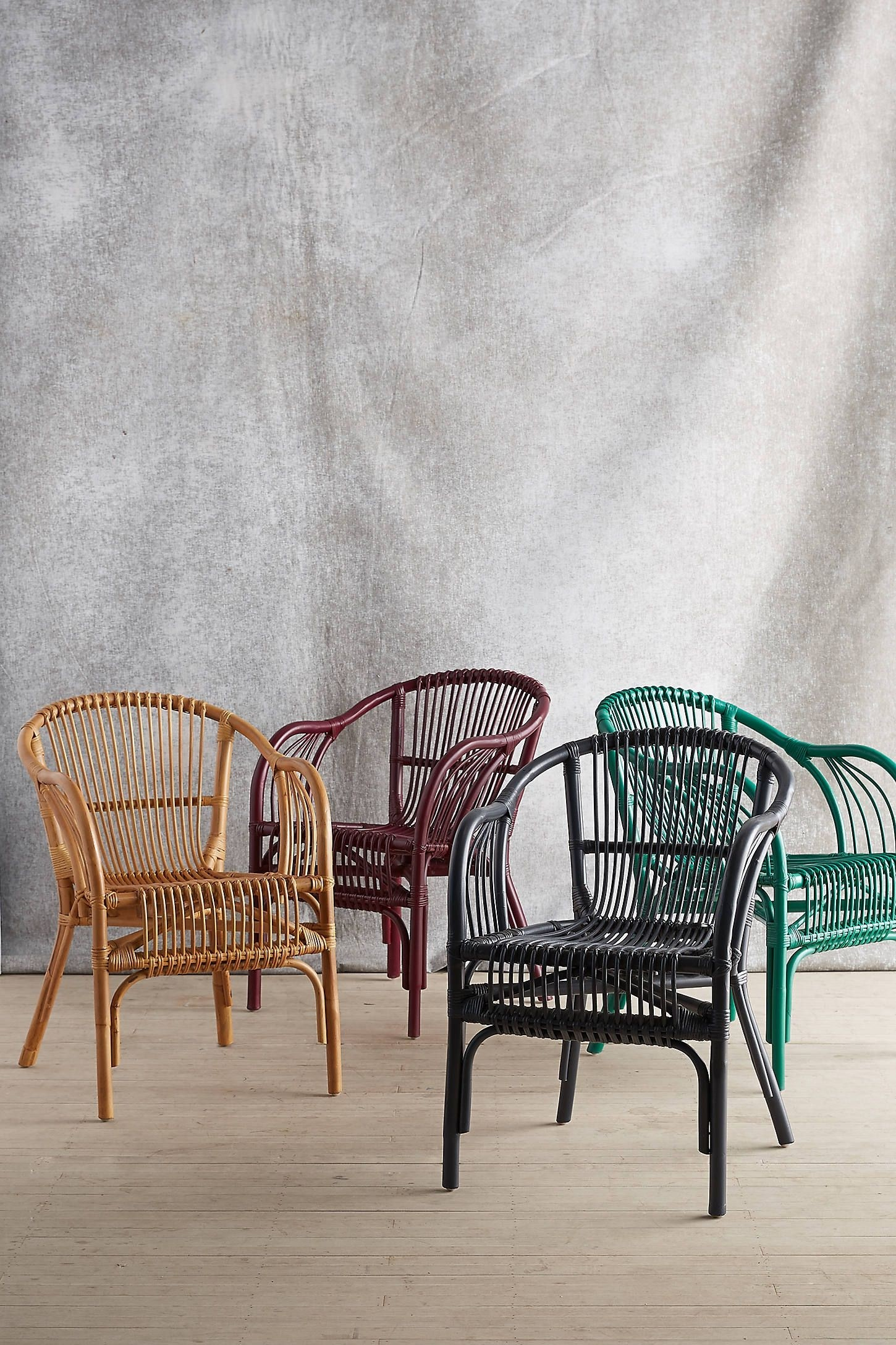 Wicker Rattan Dining Chairs 16