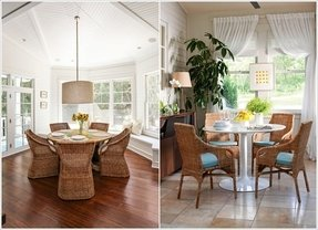 Wicker rattan dining chairs 20
