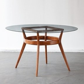 Wood Dining Table With Glass Top Foter
