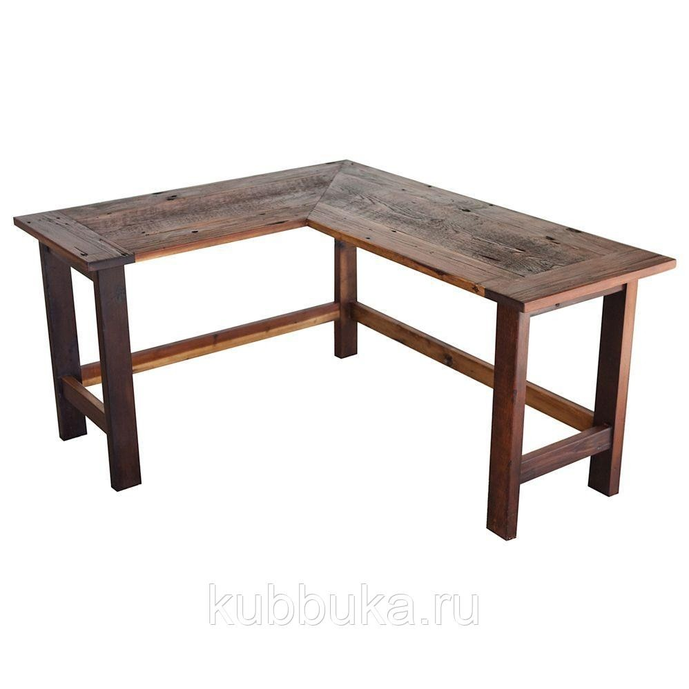 Wood L Shaped Desk 16
