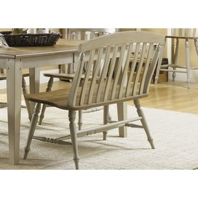 Wood Dining Bench With Back Foter