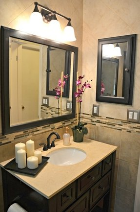 Bathroom with oil rubbed bronze accents contemporary bathroom dc metro