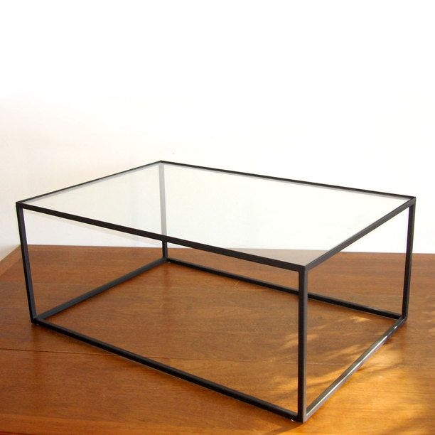 Black Metal And Glass Coffee Table 1
