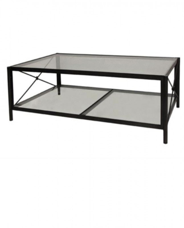 Bon Black Metal And Glass Coffee Table 6