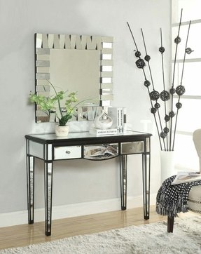 black vanity desk with mirror. Black Vanity Desk With Mirror 1 Vanity Desk With Mirror  Foter