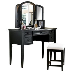 Black Vanity Desk With Mirror Foter