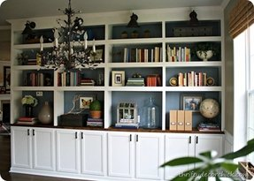 Bookcase cabinets with doors 14