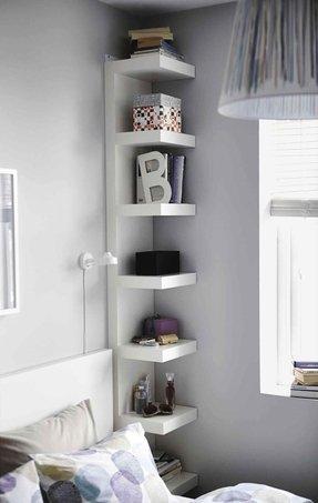 Corner bedroom shelves Shelves For Bedroom  Foter