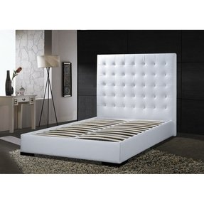 White Leather Headboard King Size