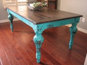 Distressed dining furniture 3