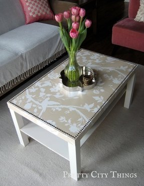 Diy Ottoman Coffee Table Metal Legs