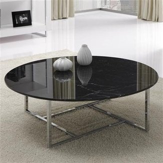 Glass and black metal coffee table 1