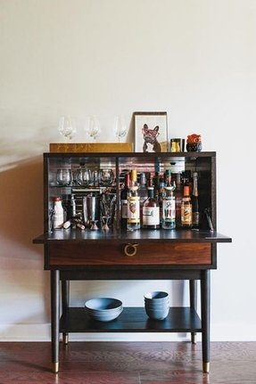 Home bar liquor cabinet 7