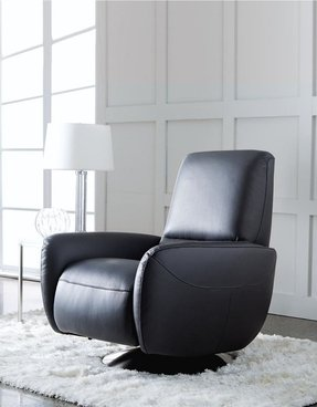 Home furniture franca leather swivel recliner hudsons bay