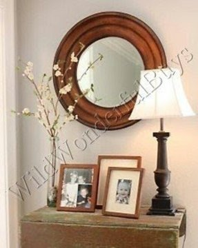 Large Round Wood Mirror Foter