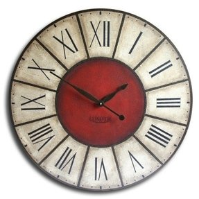 Large wall clock 18in antique style big
