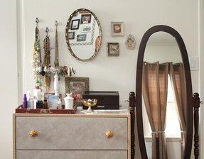 Mirrored Dresser Top Trays