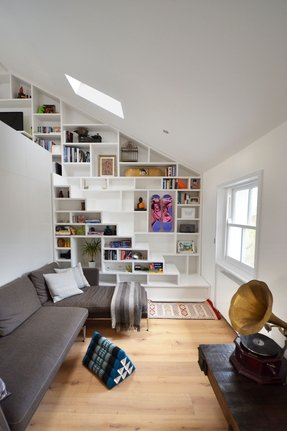 Narrow loft stairs