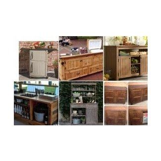 Outdoor Bar Storage Cabinet