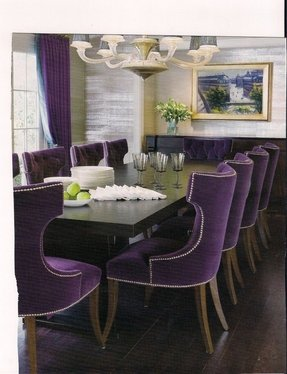 Plum velvet chair