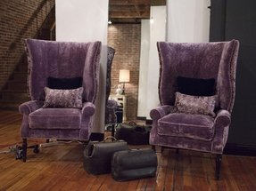 Purple velvet chair 1