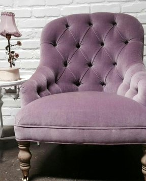 Purple velvet chair 24
