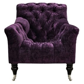 Purple velvet chair 3