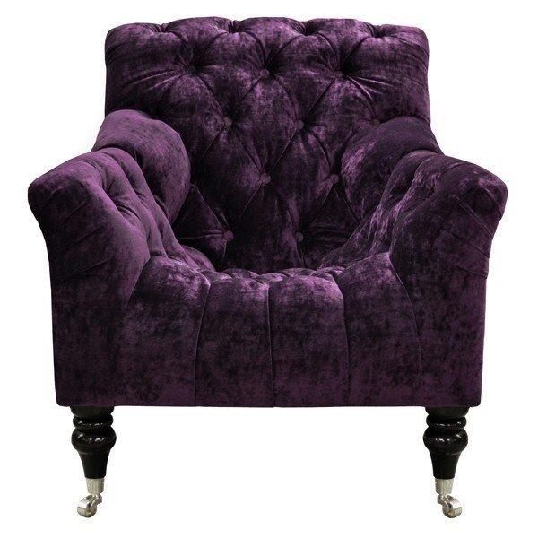 Purple Velvet Chair 3