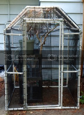 Pvc pipe cat enclosure