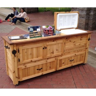 Rustic Cooler Cabinet Outdoor Bar