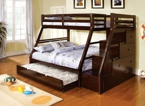 Twin over full bunk bed with staircase 2