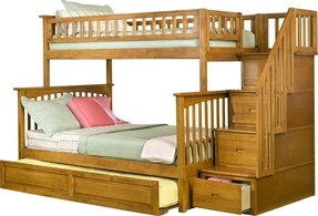 Twin over full bunk bed with staircase 7