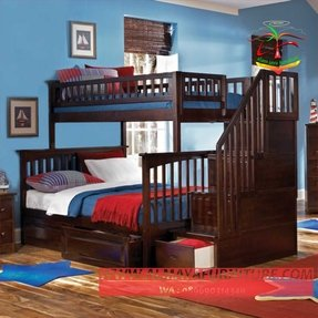 Twin over full bunk bed with staircase 8