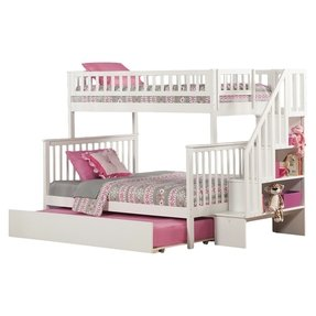 Twin Over Full Bunk Bed With Staircase Ideas On Foter