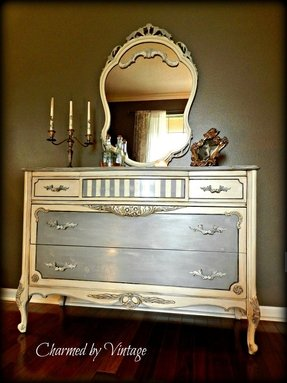 White Bombay Chest Foter