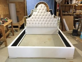 White Leather Headboard King Size Ideas On Foter
