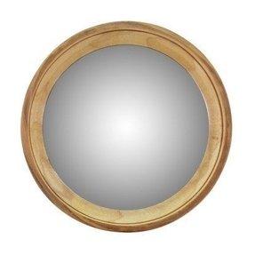 Large Round Wood Mirror Foter