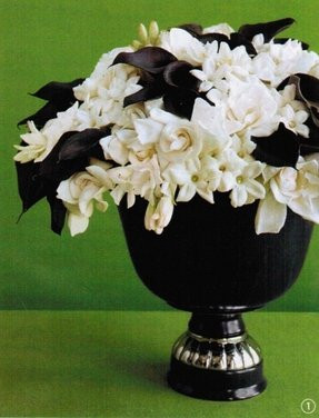 Artificial flowers in vase foter artificial flowers in vase 13 black white flower arrangement mightylinksfo