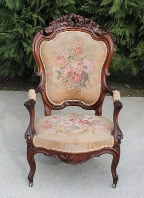 Carved arm chairs 15