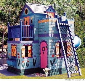 Children outdoor playhouse 25