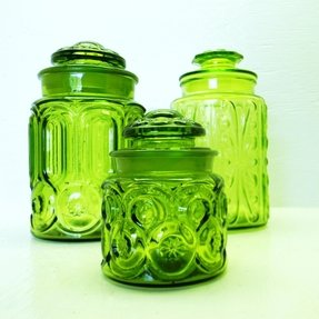 Colored glass kitchen canisters 17