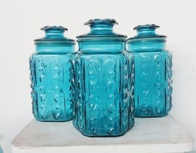 Colored glass kitchen canisters 21