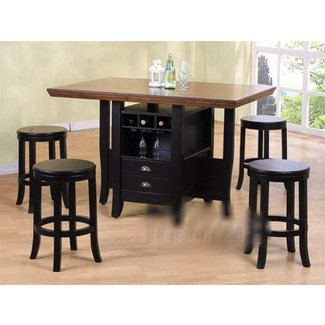 Dining table with wine storage 11